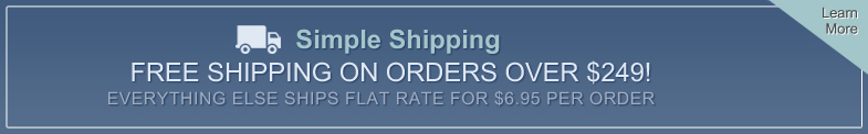 Flat Rate Shipping. Click to Learn More
